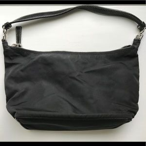 Prada Bags   Black Tessuto Nylon Pochette Small   Poshmark 876fa67625